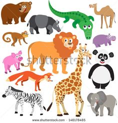 Set of Animals Set of Animals on white background. Wild animals isolated Created: GraphicsFilesIncluded: JPGImage Layered: Yes MinimumAdobeCSVersion: CS Tags: africa Safari Theme, Jungle Safari, Safari Animals, Wild Animals, Jungle Lion, Animal Projects, Projects For Kids, Art Projects, Kids Poster