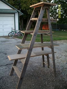 ladder cat tree...add paint and sisal rope