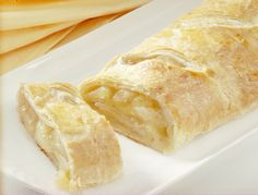 Easy Apple Strudel with pie filling.