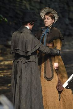Coat on the left: mantle inspiration? Gentleman Jack, Suranne Jones, Bbc Tv Shows, Lgbt, Period Costumes, First Novel, New Shows, Great Movies, Vanity Fair