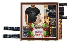 """""""Merry Christmas Ya Filthy Animal"""" by land-of-lillith ❤ liked on Polyvore featuring American Eagle Outfitters, Dsquared2, Frye, A.X.N.Y., Pier 1 Imports, men's fashion and menswear"""