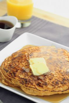 Sweet Potato Protein Pancakes recipe | These are a perfect post workout meal, even when dieting for weight loss. They cover your post workout nutrition and make your taste buds happy!