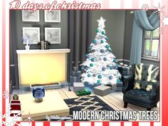 Sims 4 cc& - the best: modern christmas trees by waterwomen Modern Christmas, White Christmas, Christmas Fun, Sims 4 Controls, Sims 4 Clutter, Sims 4 Cc Furniture, Sims 4 Game, Sims 4 Cc Finds, House Layouts