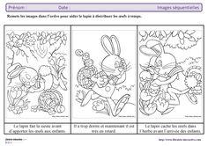 Un petit exercice avec des images séquentielles sur la thématique de Pâques, à remettre dans l'ordre.