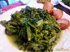 Broccoloni soffritti con wurstel tostati  #ricette #food #recipes