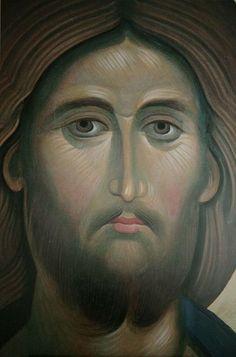 Religious Images, Religious Icons, Religious Art, Byzantine Icons, Byzantine Art, History Icon, Spiritual Paintings, Religion Catolica, Jesus Face