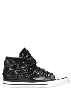 DIONISO - GEOMETRIC 3D ECO-LEATHER SNEAKERS - LUISAVIAROMA - LUXURY SHOPPING WORLDWIDE SHIPPING - FLORENCE