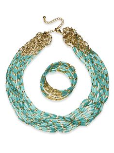Gorgeous ~ wishlisted! The Caribbean Blue Necklace #chicos now if only they had matching drop earrings!!