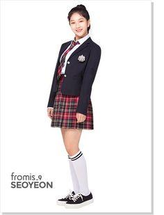 171215 fromis_9 - IVYclub Lookbook Sport Fashion, Womens Fashion, Girls In Mini Skirts, Sport Style, School Uniform, Girl Group, Rapper, Fandom, Houses