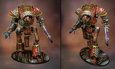 James Wappel Miniature Painting Imperial Knight, Samurai, Miniatures, Superhero, Painting, Fictional Characters, Art, Art Background, Painting Art