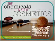Chemicals in bath + body products, and cosmetics - Our skin is the bodies largest organ and absorbs a portion of what is applied to it so make sure to read your labels/ingredient lists!