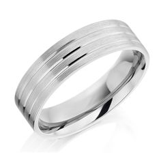 Unique Rollover White Gold Wedding Rings For Mens With 24k