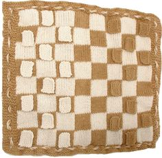 Knit this draughts board extra big & you can use it as a blanket to keep off draughts! Plus if you can't sleep you can play a game to while away the time...