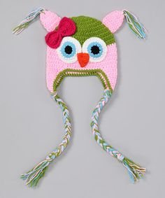 2614afd5bc7 This Lime  amp  Pink Owl Earflap Beanie by Bubbly Bows is perfect!   zulilyfinds