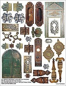 Hardware Collage Sheet from Alphastamps