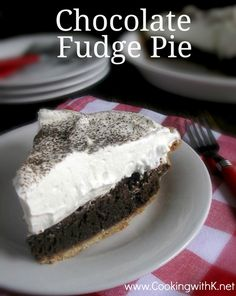 Cooking with K | Southern Kitchen: Southern Chocolate Fudge Pie {aka Chocolate Chess Pie}