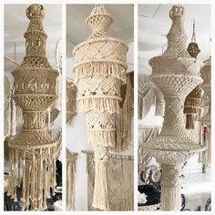 lanterns wholesale 12 styles available Macrame Art, Macrame Design, Macrame Knots, Micro Macrame, Macrame Supplies, Macrame Projects, Large Macrame Wall Hanging, Macrame Plant Hangers, Crochet Lampshade