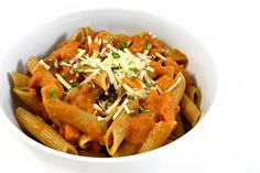 Facebook Pinterest PrintSOURCE:SkinnyKitchen This restaurant quality pasta dish is absolutely delicious. The luscious, creamy, tomatoey vodka sauce is rich, slightly spicy, with just a zing of vodka. Penne Alla Vodka became quite popular in the late 1980's and is still popular today. Normally it includes real cream for richness but I'm using reduced-fat milk. In …
