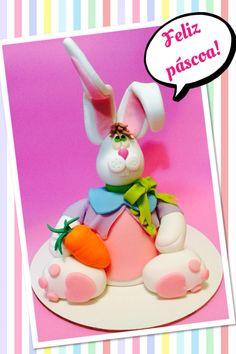 mini bolo de coelho para a páscoa / mini bunny cake for Easter www.facebook.com/fernandaultra