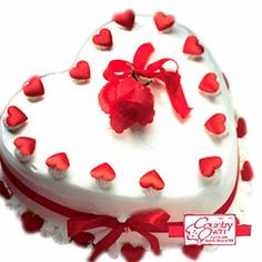 Exprees your love by sending these heart shape cake to your dear ones..Send Cakes to India...