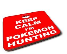Keep Calm I'm Pokemon Hunting - Pokeball Wooden Coaster G...…