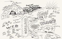 An Atlas of Alternative Maps by Tim Berners-Lee, Ed Ruscha, Yoko Ono, Damien Hirst, John Maeda, Kevin Kelly, John Baldessari, and More – Brain Pickings