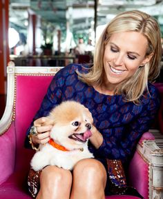 Tory Burch & her pup!