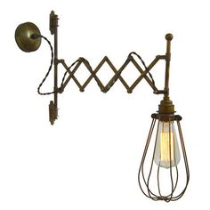 Mullan - Calis Scissor Arm Cage Wall Light - Brass and Bronze