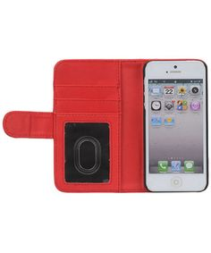 iPhone 5 / 5S Portemonnee Flip Case Rood
