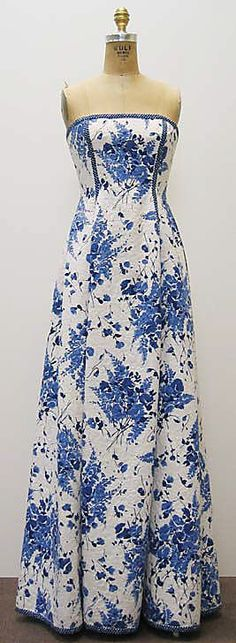 Dress  Bill Blass Ltd.  (American, founded 1970)  Designer: Bill Blass (American, 1922–2002) Date: ca. 2001 Culture: American Medium: cotton, synthetic.  Credit Line: Gift of Jamee Gregory, 2005!!!