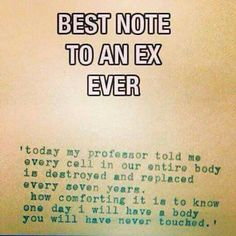 Best note to an ex