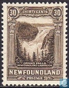 Canada (Newfoundland) Stamp 1931 - Large waterfall