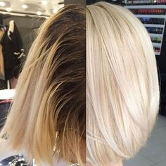 Color by Evan Sharp.gomano… - Best New Hair Styles Platinum Blonde Hair, Hair Color And Cut, Blonde Color, Silver Hair, Hair Highlights, Balayage Hair, Hair Dos, Hair Trends, Colorful Hair