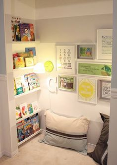 kid's-reading-nook- need to find a place for this in the house for the kids.