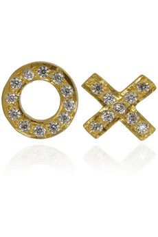 Kevia XO gold-plated crystal earrings | THE OUTNET