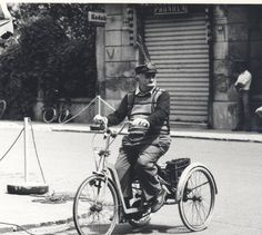 Man on three wheels: Alfeo Tosi, a.k.a. Pàrcin, Novi di Modena (Italy), 1970 ca.