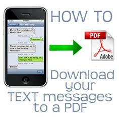 How to download your sms text messages to a pdf file.
