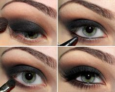 Smoke it out: Black kohl liner blended up then matte brown. Do it!