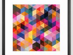 Coloured Triangles - Limited Edition Print Out of 75