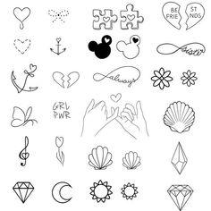 Pixel - Tattoo ideen - Tattoo World Bff Tattoos, Mini Tattoos, Kritzelei Tattoo, Sharpie Tattoos, Doodle Tattoo, Little Tattoos, Doodle Drawings, Future Tattoos, Easy Drawings