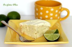 Yum!!!  Lime Cake with White Chocolate Frosting!