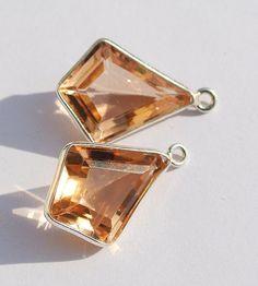 24k Gold Plated Morganite Pink Quartz Faceted by RareGemsNJewels