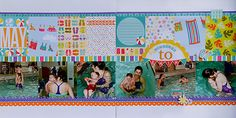 Learning To Swim, by Suzanna Lee; love summer layouts!