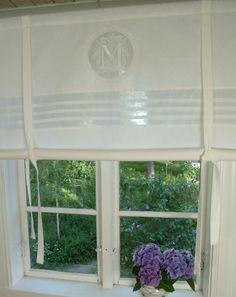 Details Zu LillaBelle MATHILDE WEISSRaff Rollo Gardine 100x100 Shabby  Landhaus Curtain