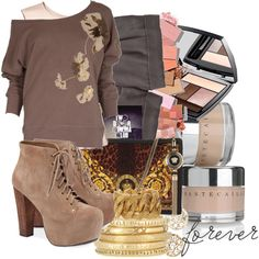 """You're Not Stubborn"" created by #colette, #polyvore #fashion #style French Connection Paule Ka Old Navy Jeffrey Campbell #Versace Mathias Chaize Yves Saint Laurent Jennifer Meyer Jewelry #Chantecaille Lancôme #shorts gold bracelets jeffery campbell french connection"