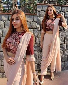 Stylish Dress Designs, Stylish Dresses, Stylish Sarees, Casual Dresses, Western Outfits For Women, Clothes For Women, Dress Indian Style, Indian Outfits, Indian Clothes