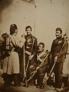 Carol Szathmari - Turkish infantry in the field