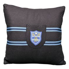 I want this in a jacket ...Handmade Vintage School Badge Accent Pillows