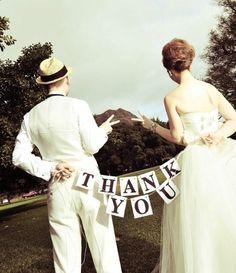 THANK YOU パーティー ガーランド 小物 ウエディング グッズ 結婚式 アイテム ウェディング 小物 装飾 人気 フォト ステッカー インテリア D-Sオリジナル:Amazon.co.jp:おもちゃ
