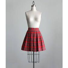 Designer Clothes, Shoes & Bags for Women Red Skirts, Plaid Skirts, Short Skirts, Mini Skirts, Silk Pjs, Silk Pajamas, Red Plaid, Tartan, Plaid Pleated Mini Skirt